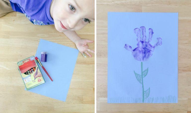 hand print flower1